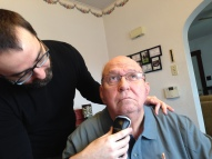 Lance shaves neck