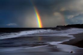 Rainbow-in-storm