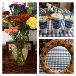 Flowers, Polar Pops, and a Thanksgiving wreath