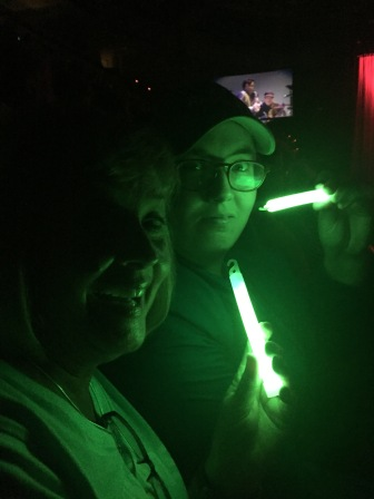 With our glow sticks
