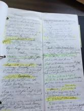 A hand-written sermon