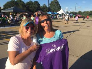 "We found Tammy and her ""survivor"" shirt."