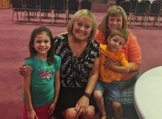 Carol had her grandkids from Arkansas.