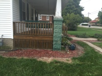 The front porch after