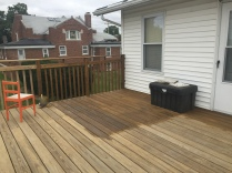 The back deck started