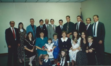 Most of the family at Dad's funeral